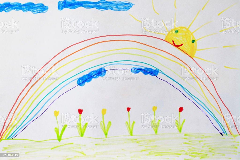 Foto De Desenho Infantil De Flores E Arcoiris E Mais Fotos De