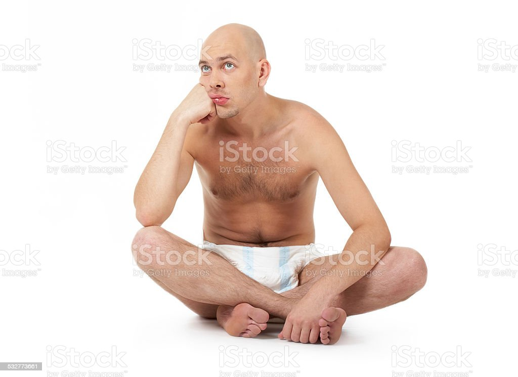 Childish man stock photo