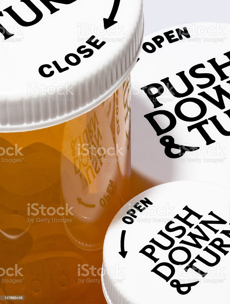 Childproof Pill Bottles royalty-free stock photo