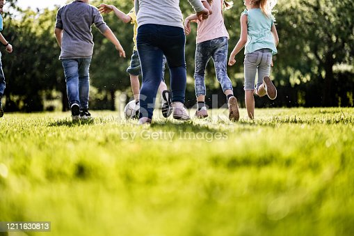 istock Children and sport ball 1211630813