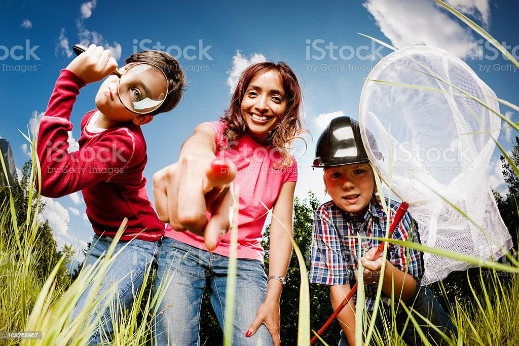 Children and Teacher in a Butterflies Life  Adventure Stock Photo
