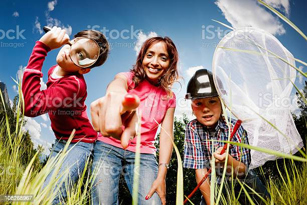Children And Teacher In A Butterflies Life Stock Photo - Download Image Now