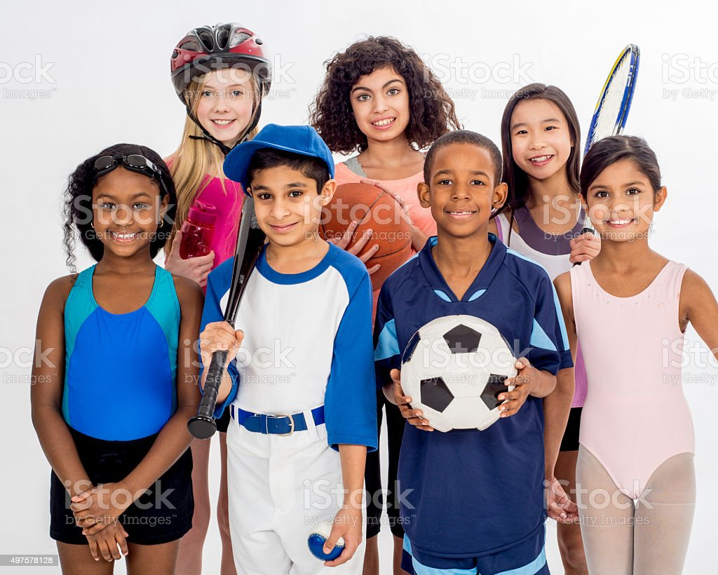 Children and Their Hobbies stock photo
