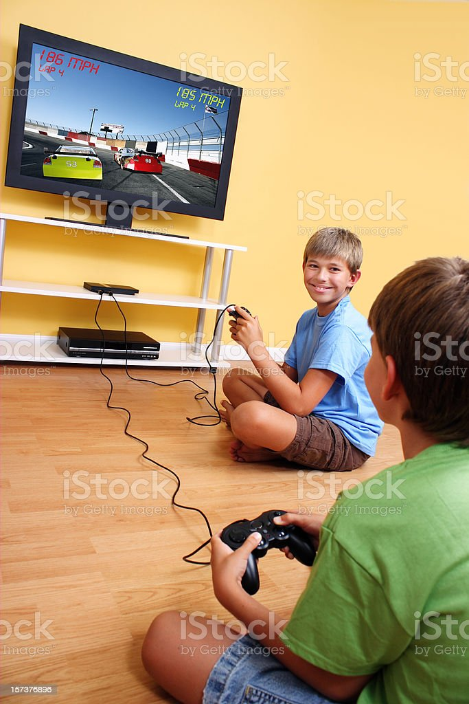 Children and Video Game royalty-free stock photo