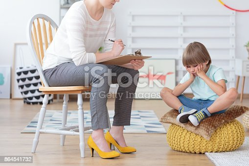 istock Children anxiety and depression concept 864541732