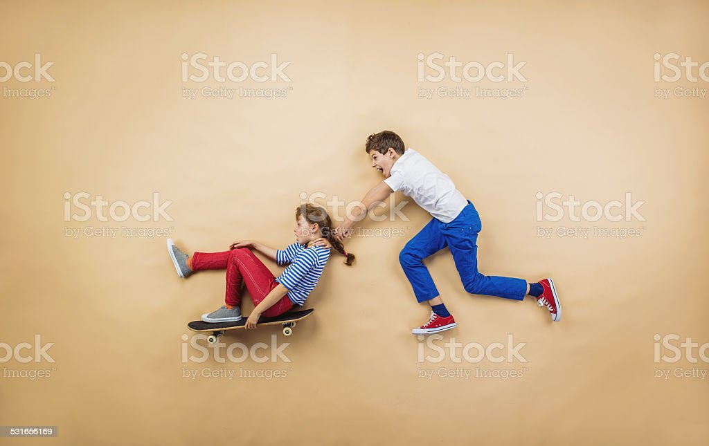 Children are playing together stock photo