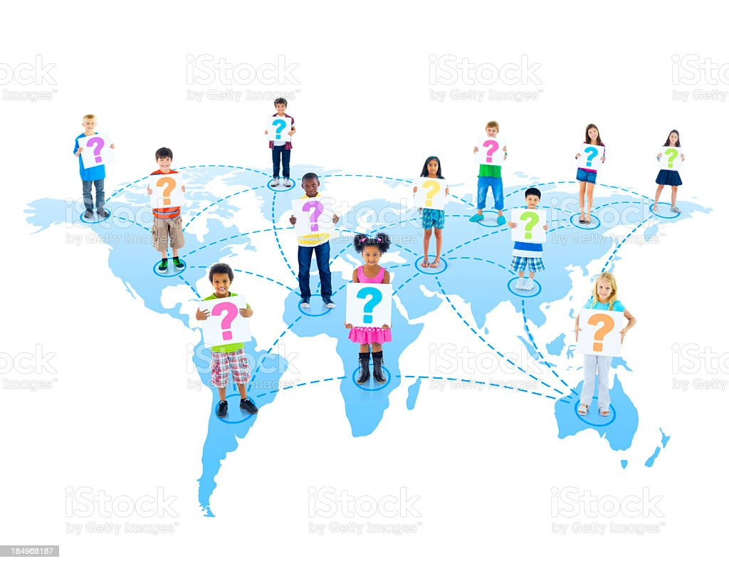 Children around the World royalty-free stock photo
