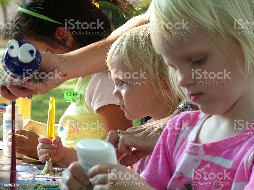 Children art stock photo