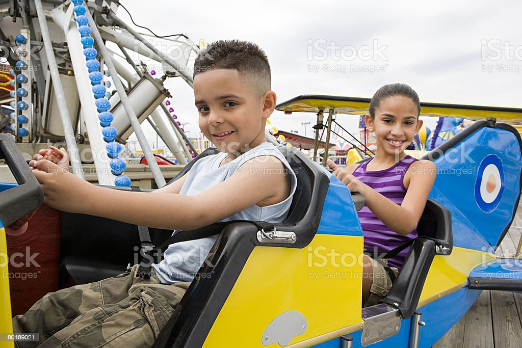Children at amusement park royalty-free stock photo