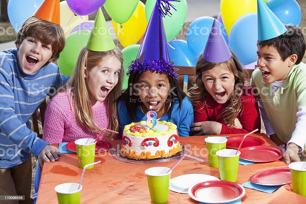 Children at birthday party royalty-free stock photo