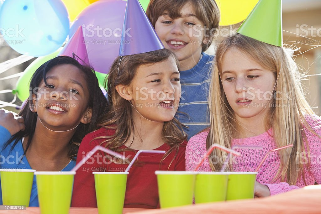 Children at birthday party royalty-free stock photo