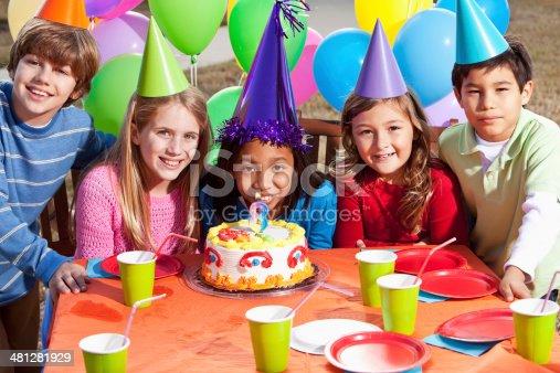 933458532 istock photo Children at birthday party 481281929