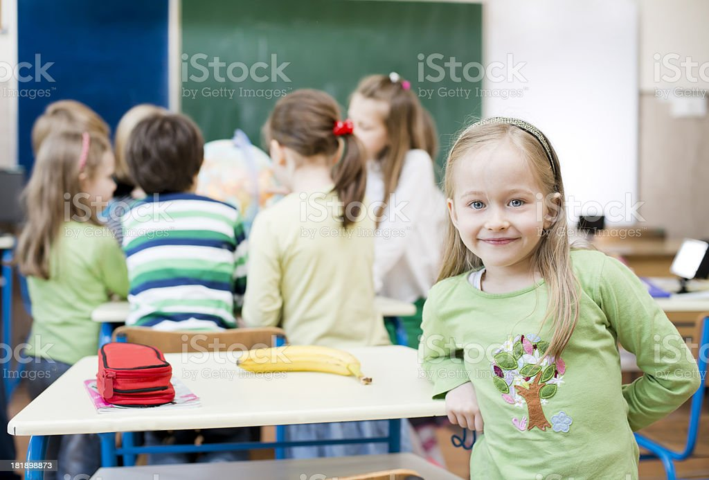 Children at classroom royalty-free stock photo