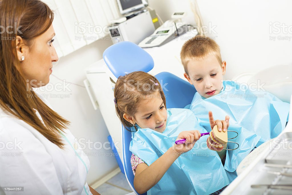 Children at dentist royalty-free stock photo