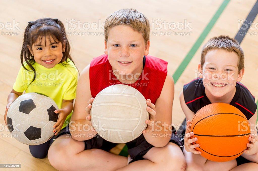 Children at Sports Camp stock photo