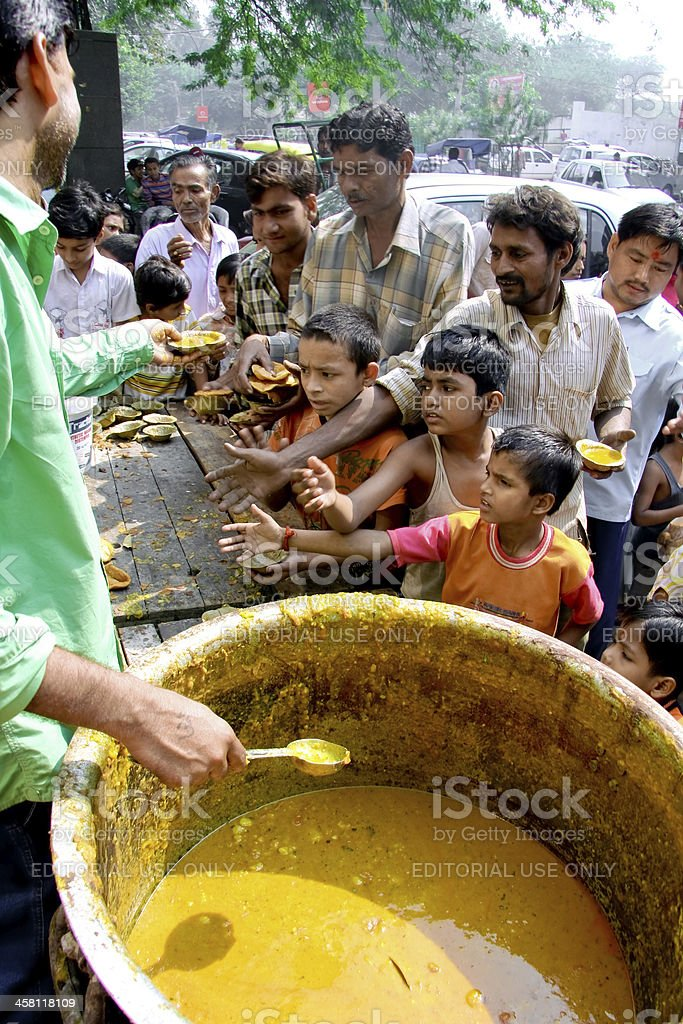Children begging for food royalty-free stock photo