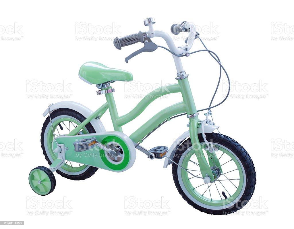 Children bicycle stock photo