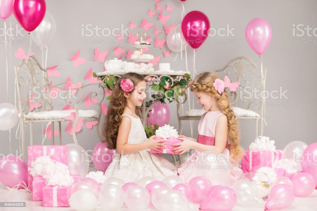 Kinder Geburtstag Party Mädchen Geben Präsent Geschenkbox
