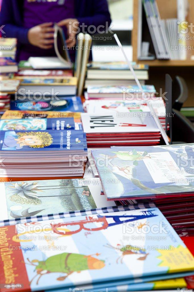Children books for sale stock photo