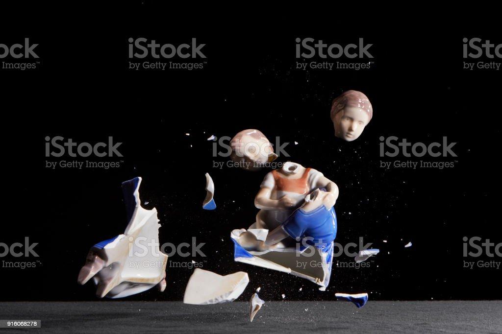 Children breaks apart stock photo