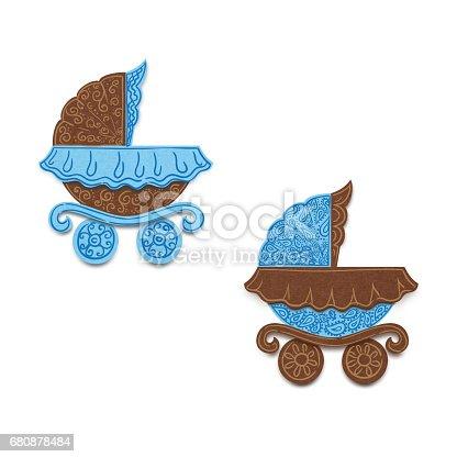 istock Children carriage. 680878484