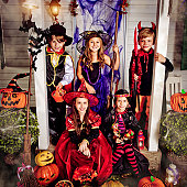 istock Children celebrating Halloween 155445002