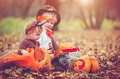istock Children celebrating Halloween 486522162