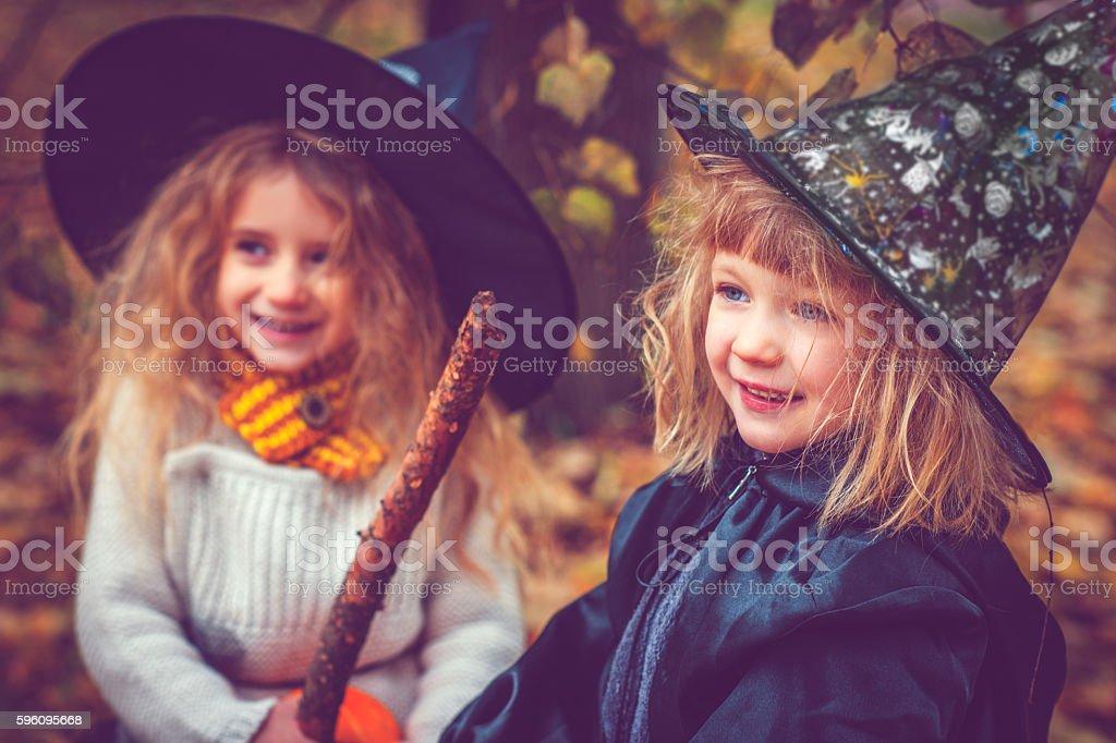 Children celebrating Halloween royalty-free stock photo
