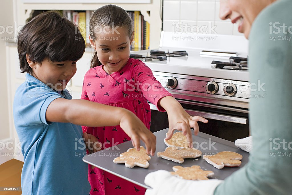 Children choosing cookies royalty-free stock photo