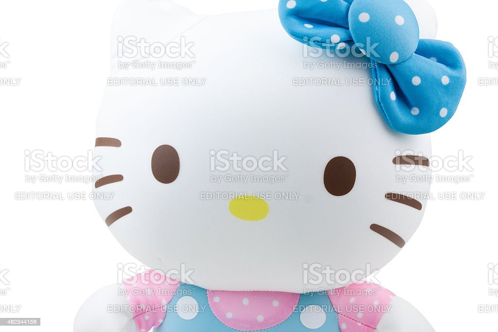 Children cloth toy-Hello Kitty figure stock photo