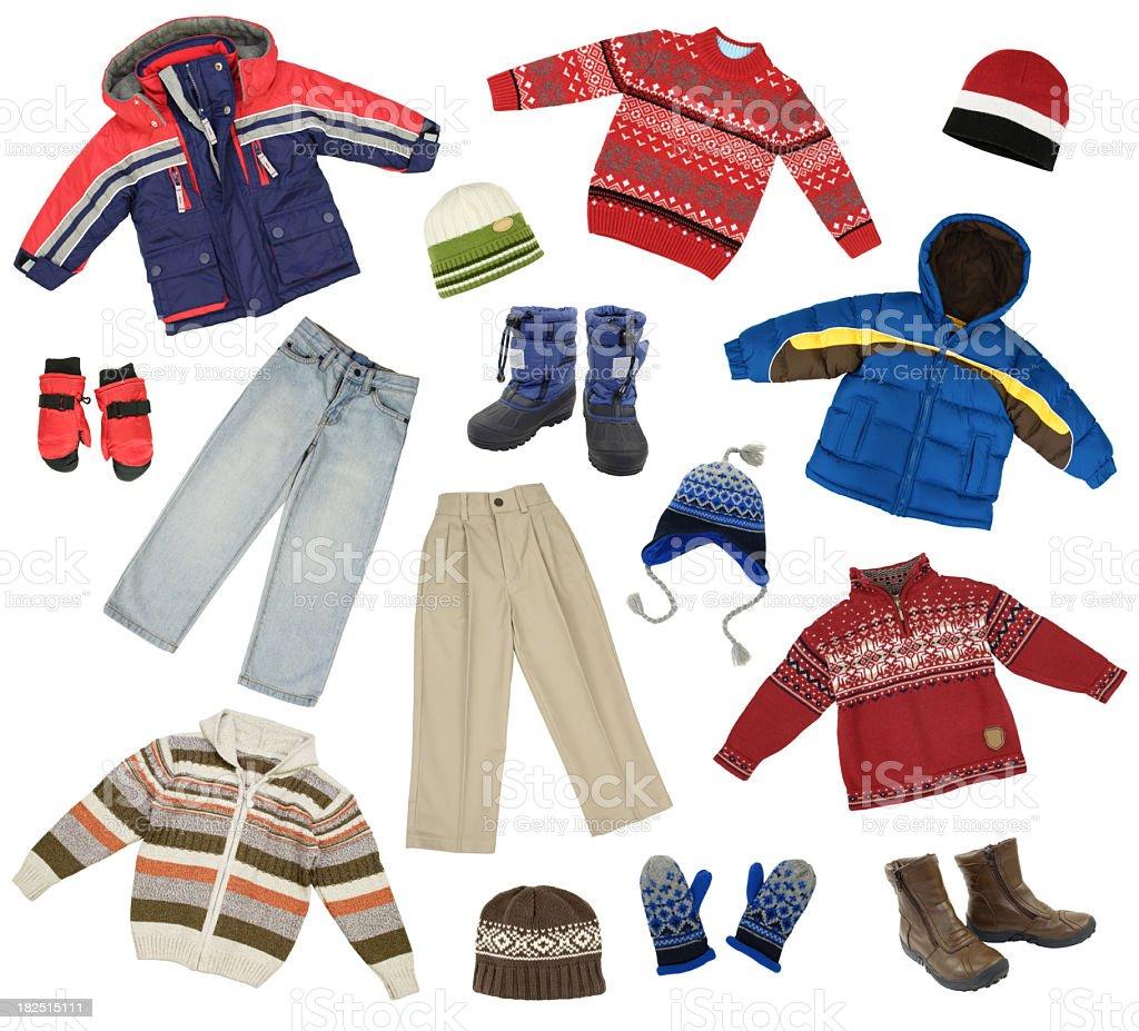 Children clothes stock photo