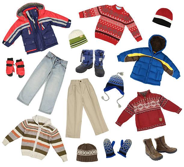 kinder kleidung - kinder winterstiefel stock-fotos und bilder