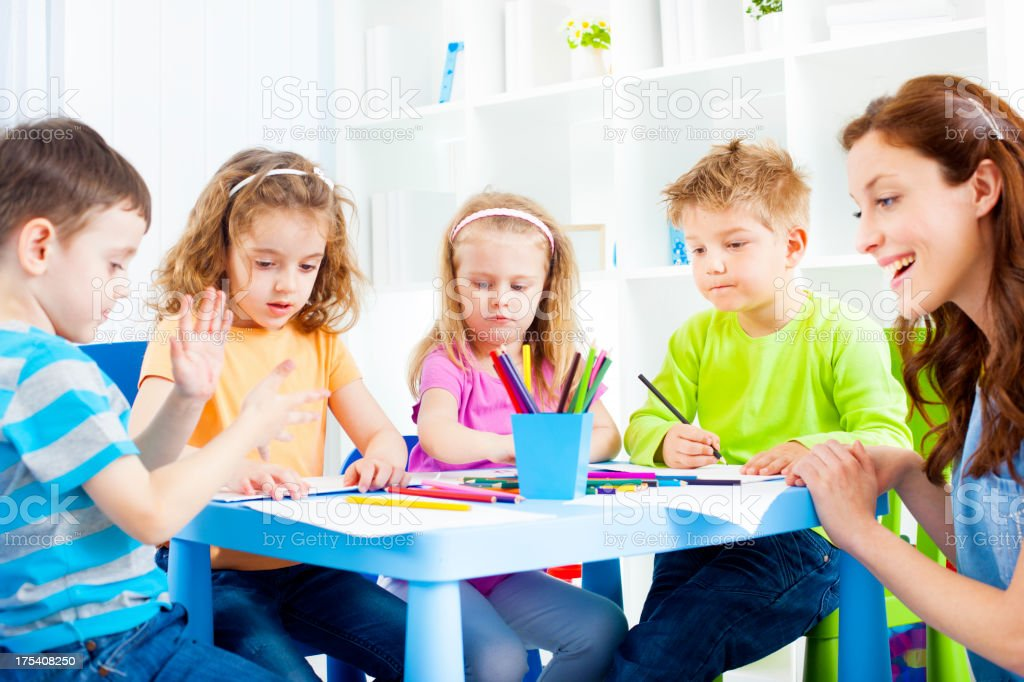 Children Coloring and Drawing. royalty-free stock photo