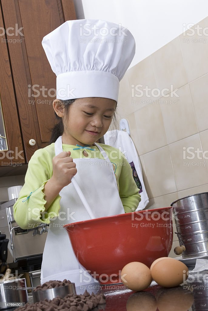 Children Cooking royalty-free stock photo