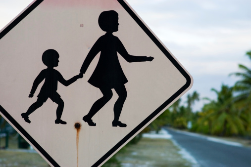 Children Crossing Sign Stock Photo - Download Image Now