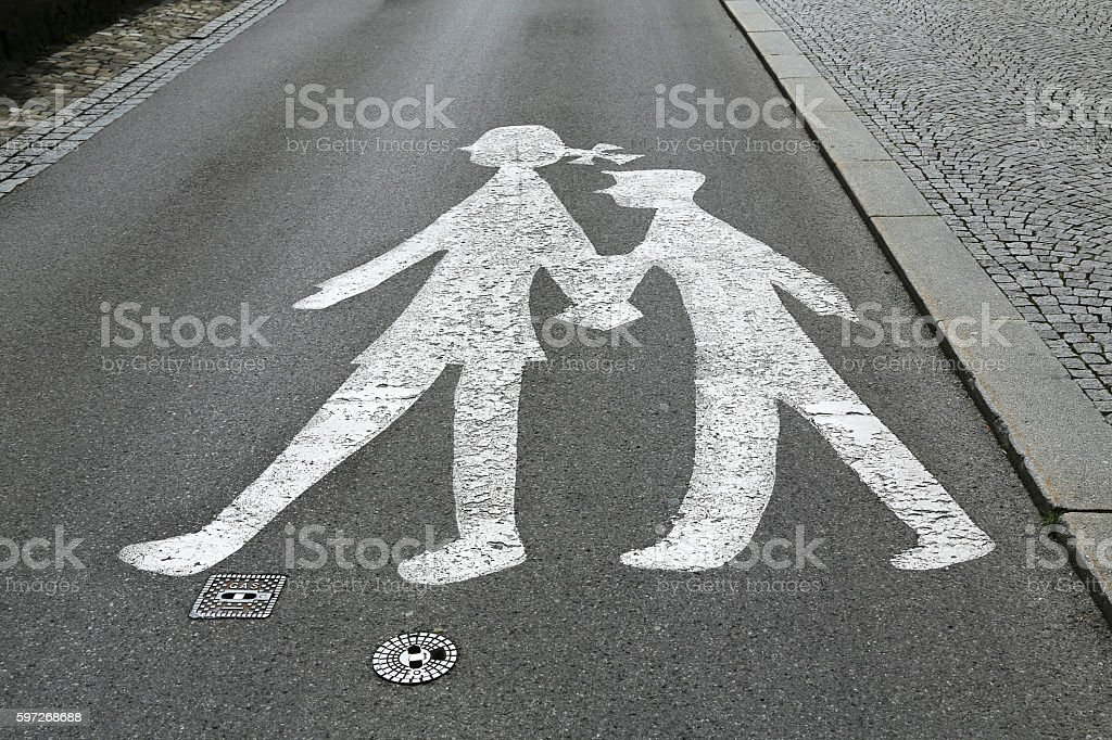 children crossing sign royalty-free stock photo