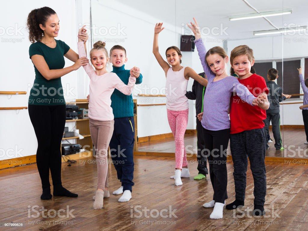 children dancing tango stock photo