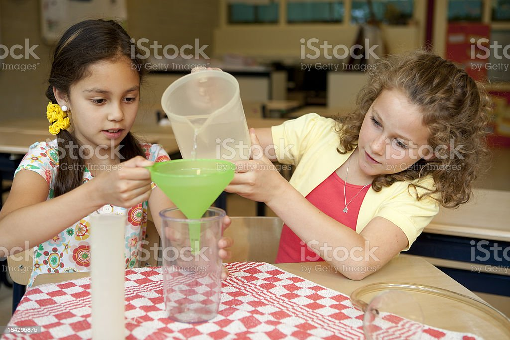 Children do experiments royalty-free stock photo