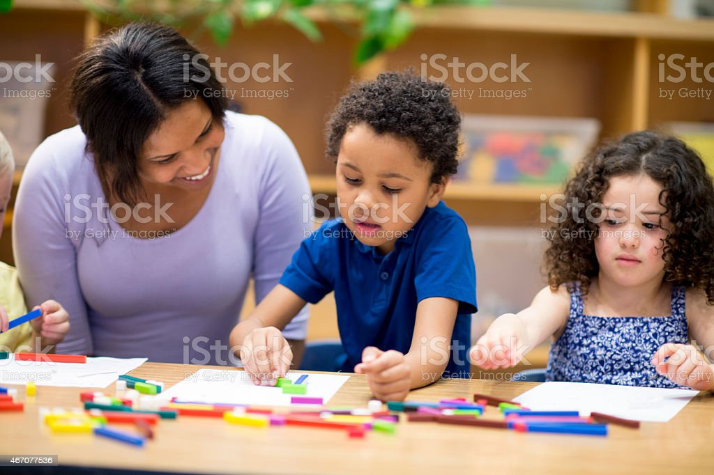 Children doing Arts and Crafts stock photo