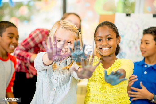 istock Children doing Hand Painting 480579024