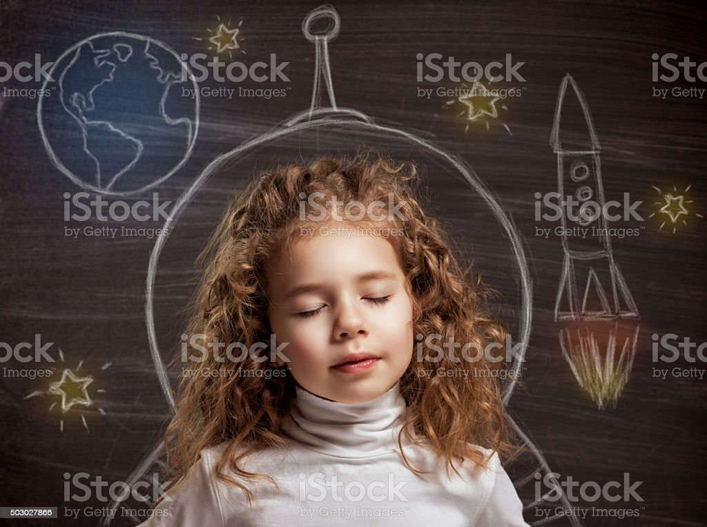 children dream royalty-free stock photo