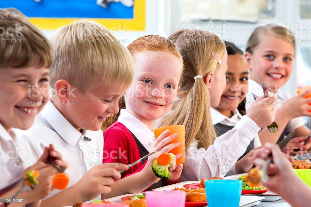 Niños Comiendo Escuela Cenas