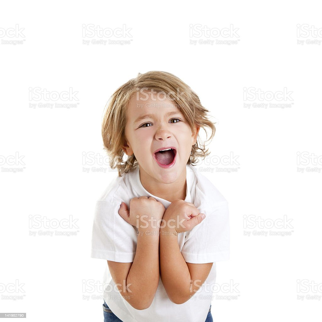 children excited kid with happy winner expression royalty-free stock photo