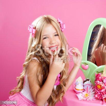 istock children fashion doll little girl lipstick makeup pink vanity 147313046