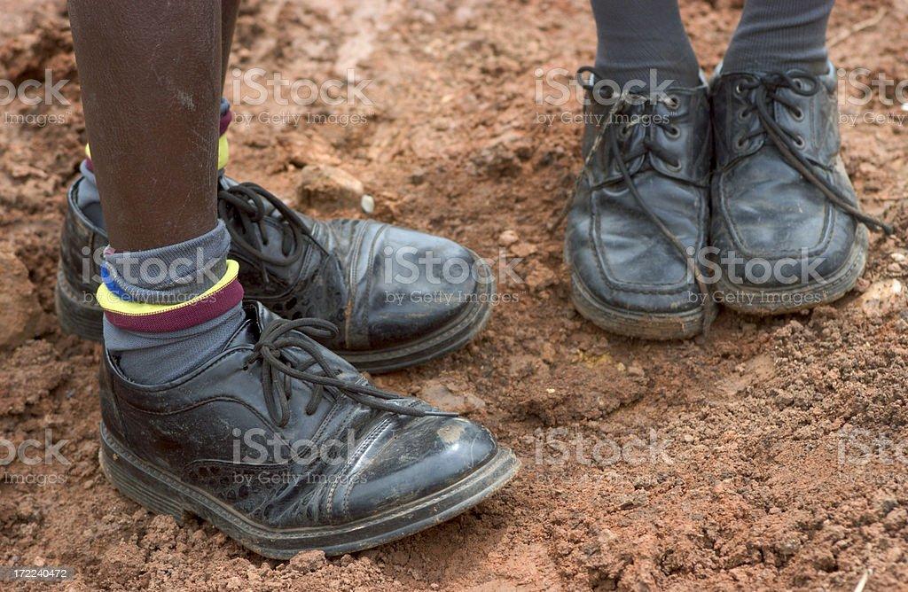 Children feet royalty-free stock photo