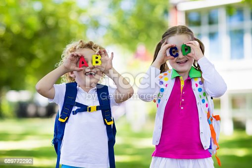 istock Children going back to school, year start 689772292