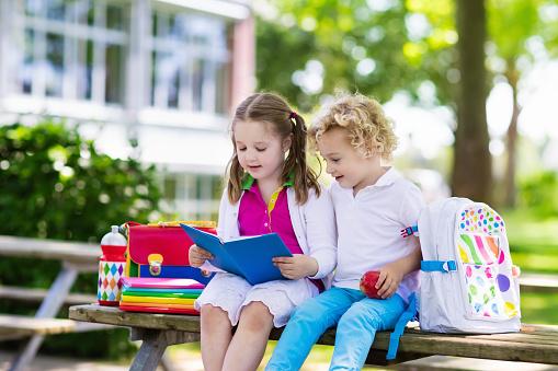 istock Children going back to school, year start 824727068