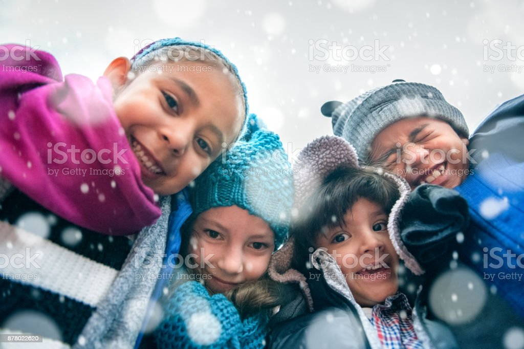 Children Group Hug - foto stock