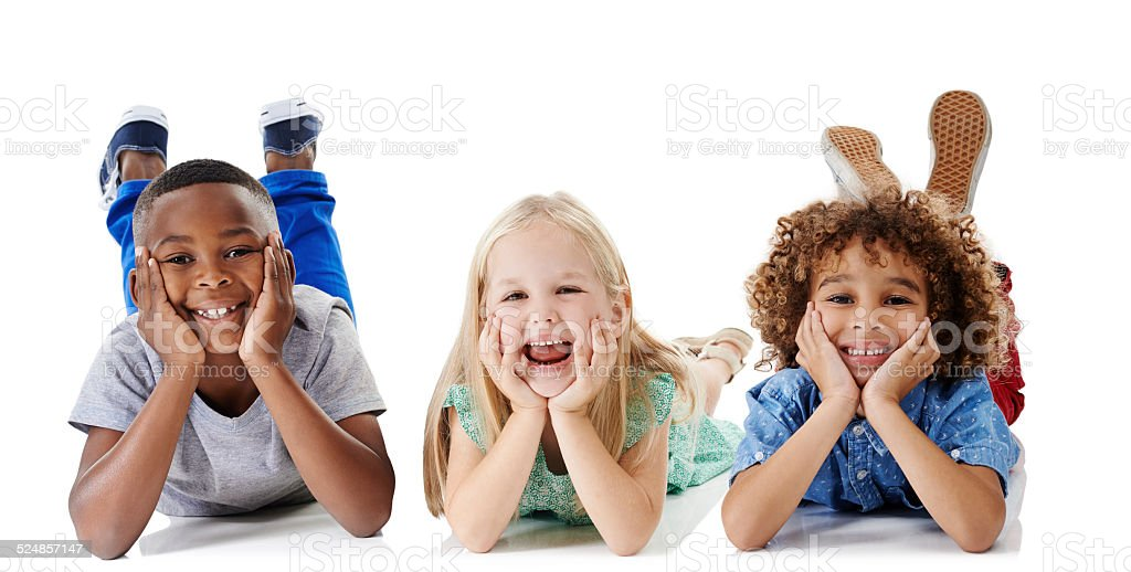 Children have a way of adding joy to your day stock photo