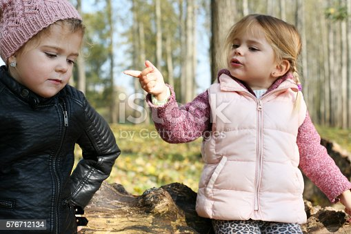 istock Children having an argument. 576712134